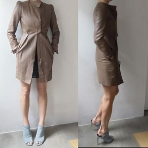 All Saints Jackets & Coats - All Saints skinny cocoa leather dress jacket 2